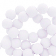 4 mm acrylic beads matt Ice Grey