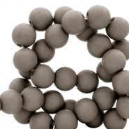 8 mm acrylic beads matt Frost Gray Taupe