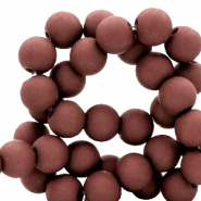 8 mm acrylic beads matt Fired Brick Brown