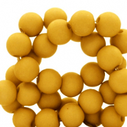 10 mm acrylic beads matt Bright Golden Yellow