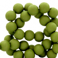 6 mm acrylic beads matt Oregano Green