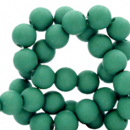 6 mm acrylic beads matt Bistro Green