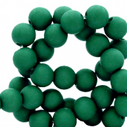 6 mm acrylic beads matt Fir Green