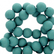 8 mm acrylic beads matt Canton Green