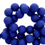 8 mm acrylic beads matt Dark Princess Blue