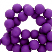 8 mm acrylic beads matt Tillandsia Purple