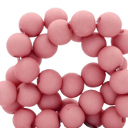 8 mm acrylic beads matt Lantana Pink