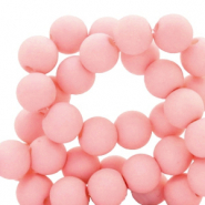 6 mm acrylic beads matt Salmon Pink