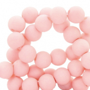 8 mm acrylic beads matt Cosmetic Peach