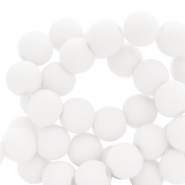 4 mm acrylic beads matt White