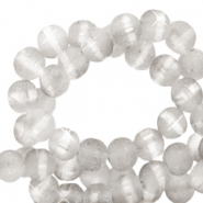 8 mm glass beads mat holographic line Light Grey