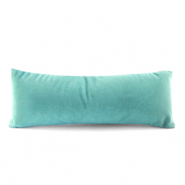 Jewellery display cushion velvet Aqua Green