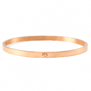 Stainless steel bracelets with loop Rose Gold