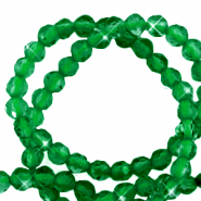 3 mm natural stone faceted beads crystal Emerald Green