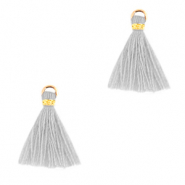 Tassels 1.5cm Gold-Cloud Grey