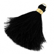 Tassels 6cm Limited edition Black-Warmgold