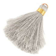 Tassels 6cm Limited edition Fossil Grey-Warmgold