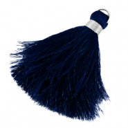 Tassels 6cm Limited edition Princess Blue-Silver