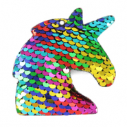 Charm with 1 eye sequin unicorn Multicolour Rainbow