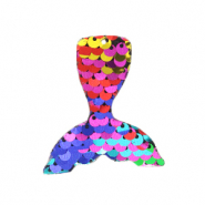 Charm with 1 eye sequin mermaid tail Multicolour Rainbow