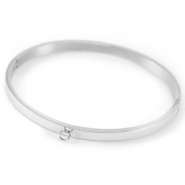 Stainless steel bracelets with loop Silver