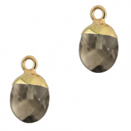 Natural stone charms Black Diamond-Gold
