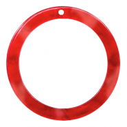 Resin pendants round 35mm Chilli Red
