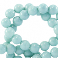 6 mm glass beads opaque Eggshell Blue