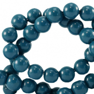 4 mm glass beads opaque Gibraltar Sea Blue