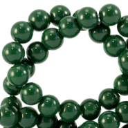 6 mm glass beads opaque Dark Eden Green