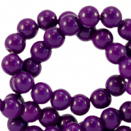 8 mm glass beads opaque Acai Purple