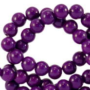 4 mm glass beads opaque Acai Purple
