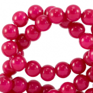 8 mm glass beads opaque Raspberry Pink