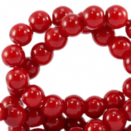 8 mm glass beads opaque Salsa Red