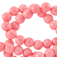 4 mm glass beads opaque Sweet Fruit Dove Pink