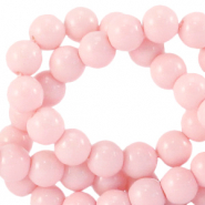 4 mm glass beads opaque Blossom Rose
