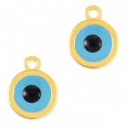 "DQ European metal charms ""evil eye"" Gold (nickel free)"