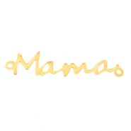 "DQ European metal charms connector ""mama"" Gold (nickel free)"