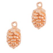 DQ European metal charms pine cone Rose Gold (nickel free)