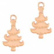 DQ European metal charms Christmas tree Rose Gold (nickel free)