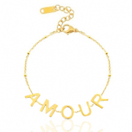 "Stainless steel bracelets ""amour"" Gold"