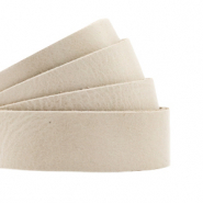 DQ European leather flat 20 mm Cream Beige