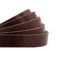 DQ European leather flat 10 mm Rocky Road Brown
