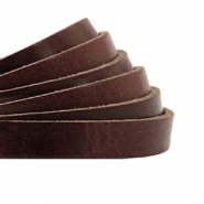 DQ European leather flat 5 mm Rocky Road Brown