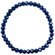 Top faceted bracelets 6x4mm Evening Blue-Pearl Shine Coating