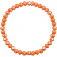 Top faceted bracelets 6x4mm Rust Orange-Pearl Shine Coating