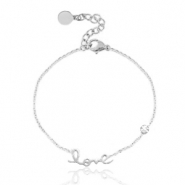 Stainless steel bracelet LOVE Silver