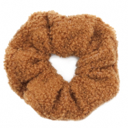 Scrunchie teddy hair tie Brown