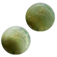 Semi-precious stones agate round Green Grey Mix