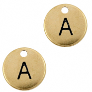 DQ European metal charms initial A Antique Bronze (nickel free)